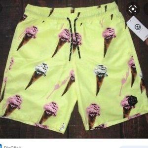 Men's Neff ice cream board shorts- large